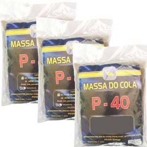 Massa para pesca Do Cola P40 3 pctes de 500 gramas - Total 1,5 kg