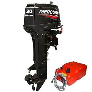 Motor de popa Mercury  30 HP 2T - 0 Km Partida elétrica original - pronta entrega