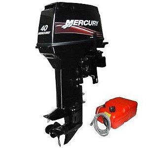 Motor de popa Mercury  40 HP EO 2T - elétrico com comando Preço Produtor Rural e PJ R$ 13.932,00