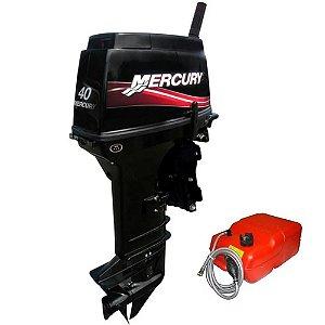 Motor de popa Mercury  40 HP Sea Pro 2T - manual com manche 3 cilindros