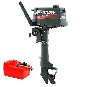 Motor de popa Mercury 5 HP 2T Preço Produtor Rural e PJ