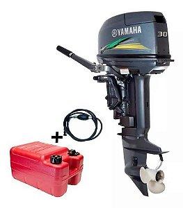 Motor de popa Yamaha 30 HP 2T Partida elétrica - 0 Km - Modelo Novo