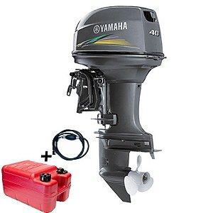 Motor de popa Yamaha 40 HP 2T - AWS - Elétrico com comando - Modelo Novo