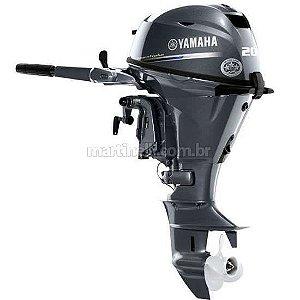 Motor de popa Yamaha F 20 4 Tempos - BMHS - Manual com manche preço especial Produtor Rural e PJ Sul e Sudeste à vista R$ 14.580,00 ou entrada 30% R$ 4.374,00 + 12x R$ R$ 978,07 no cartão de credito.