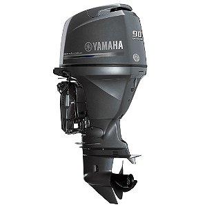 Motor de popa Yamaha F 90 4 Tempos - BETL EFI - Elétrico com comando