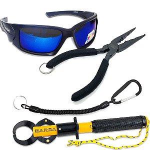Óculos Maruri Polarizado 6556+ Alicate Garra com balança+ Alicate de bico + Cordão