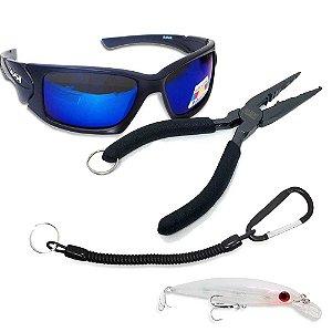 Óculos Maruri Polarizado 6556 + Alicate MS + Cordão + Isca