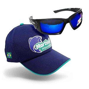 Óculos Maruri Polarizado 6556 Proteção Solar UV + Boné Mart