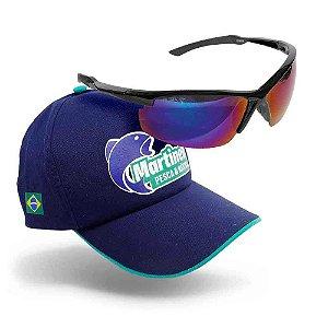 Óculos Maruri Polarizado 6575 - lente azul + Boné Martinelli