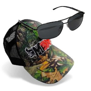 Óculos Maruri Polarizado RD-8688 + Boné Monster 3X Fit Camo