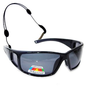 : Óculos Polarizado Marine Sports MS-2648 Smoke... + Segurador de óculos retrátil - Preto...