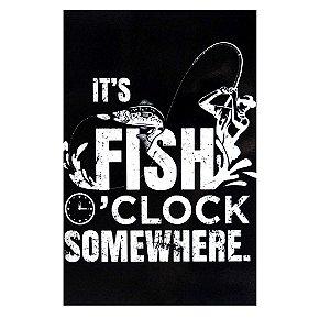 Placa decorativa 05 Fish Clock - 20 x 30 cm