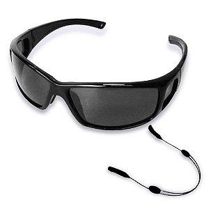 Segurador de óculos retrátil - Preto... + Óculos Polarizado Marine Sports MS-2648 Smoke...