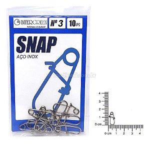 Snap Intergreen aço inox 03 com 10 un.