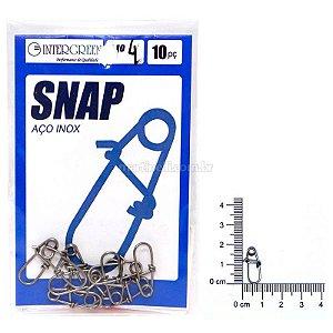 Snap Intergreen aço inox 04 com 10 un.