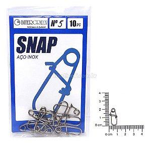 Snap Intergreen aço inox 05 com 10 un.