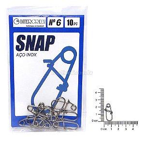 Snap Intergreen aço inox 06 com 10 un.