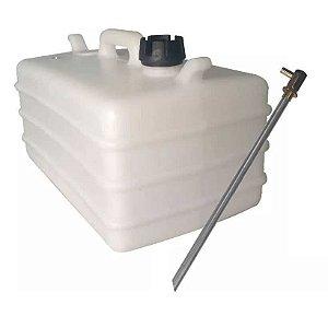 Tanque de combustível 28 litros + Pescador de gasolina fixo em alumínio.