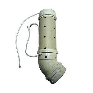 Tratador (cevador) PVC Grande 4 polegadas CURVO