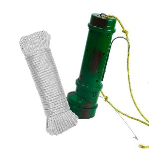 Tratador (cevador) PVC Verde+ Corda PP branca 6mm c/ 15m...