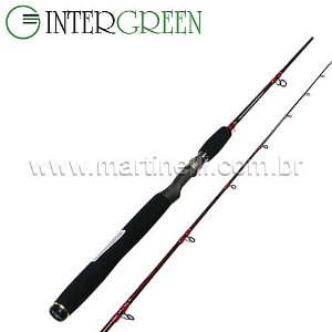 Vara Intergreen Rubi - 8-17lbs - 1,70m - RBS 57M-2 - (molinete) - (duas partes)