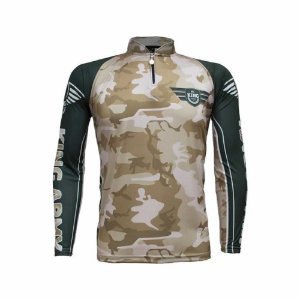 Camiseta de Pesca Sublimada Army 301