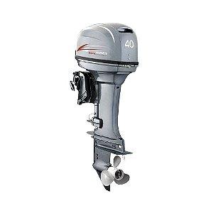 Motor de popa Hidea 40 HP 2T - Comando à distância - Power Trim - Partida Elétrica - Rab. 20 pol
