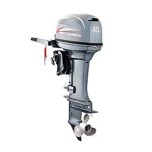 Motor de popa Hidea 40 HP 2T Partida Elétrica e manche
