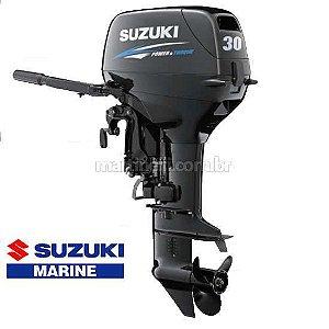 Motor de popa Suzuki 30HP DT30S 2T - Partida Elétrica