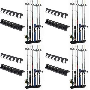 4 Suporte de varas Stick Rack para parede - Exposição de 6 varas
