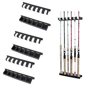 3 Suporte de varas Stick Rack para parede - Exposição de 6 varas