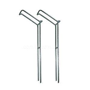 2 Suporte para vara barranco fixo tamanho P