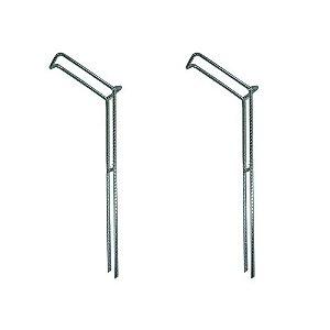 2 Suporte para vara barranco fixo tamanho M