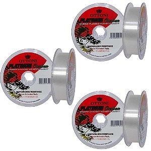 3x Linha Platinum Fluorcarbon Leader 0,35mm 100m