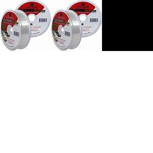 1x Linha Platinum Fluorc 0,30mm 100m + 1x 0,35mm + 1x 0,50mm