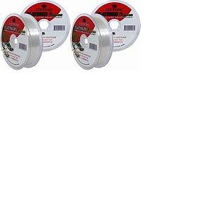 Kit Linha Platinum Fluorcarbon Leader 0,30mm + 0,40mm 100m