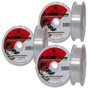 Kit 1X Linha Platinum Fluo Leader 0,30mm-0,35mm-0,40mm 100m