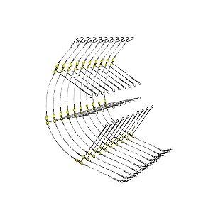 10 Chicote p/ 3 anzóis - Aprazível