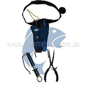 Porta alicates triplo + alicate de contenção com balança MKI + alicate de bico MS SRP-165