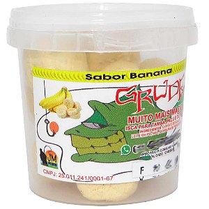 Massa Jm Grude Beijinho Banana 130g Pronta p/ usar
