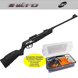 Carabina de Pressão Cbc 5,5mm Jade Mais Nitro Ox Pt 100 + Kit Atirador Esportivo