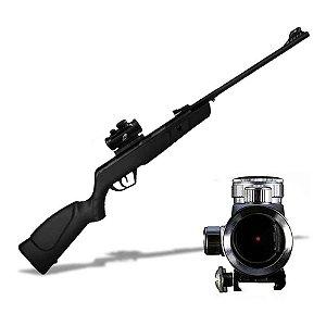 Carabina de pressão CBC JADE Preta Cal 5.5mm+ Mira Holográfica 1x30