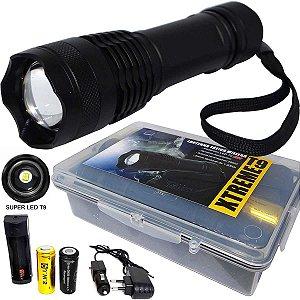 Lanterna Tática Especial Xtreme c/ Super Led T9 e Bateria Extra