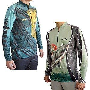 Kit Camiseta MTK Atack Z Pirarara G + MTK Atack Z Dourado G