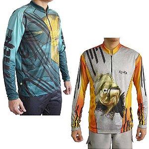 Kit Camiseta MTK Atack Z Tambaqui G + MTK Atack Z Dourado G