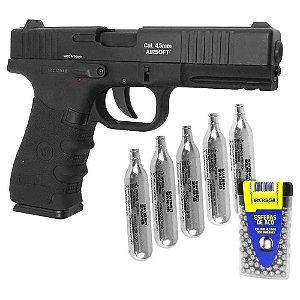 Pistola Pressão Co2 W119 Slide Metal Co2 4,5mm+ CO2+ Esferas