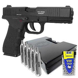 Pistola Co2 W119 Slide Metal cal. 4,5mm+ Maleta+ CO2 Esferas