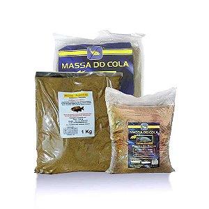Kit 3 kg Massa para pesca para tilapia - pacu - tamba