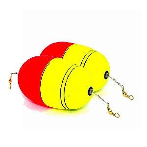 2 Boia de pesca Aguape Oval c/ cabo de aço flex e girador
