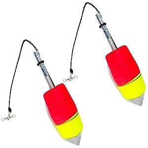 2 Boia de pesca Aguape Torpedo N2 20g - Ref. 537